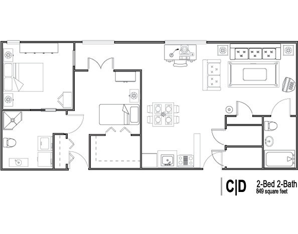 2 bedroom retirement house plans home of home design Retirement house designs