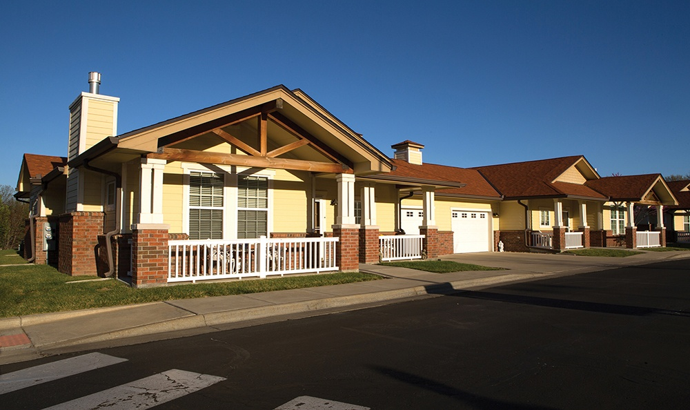 Outside of Park Meadows Patio Homes