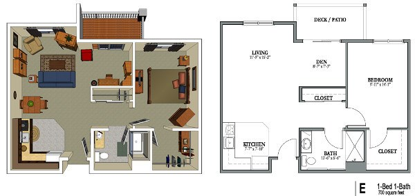 700 Sq Ft senior living floor plans | park meadows senior living