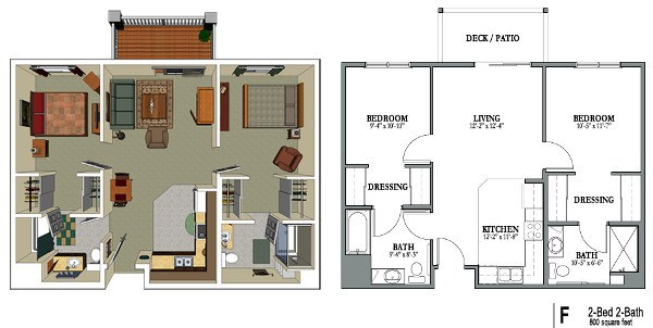Senior Living Floor Plans | Park Meadows Senior Living