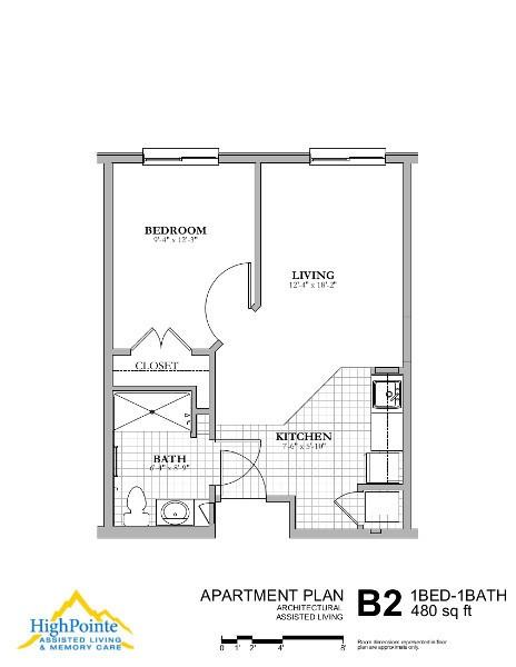 Studio Apartment Floor Plans 480 Sq Ft senior living floor plans | highpointe assisted living & memory care