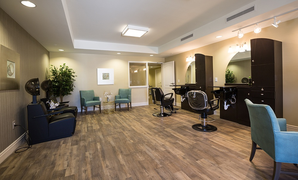 Salon at our assisted living community in Hilliard, OH