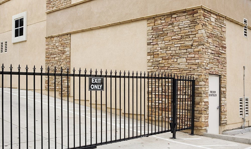 Secure gated units at self storage at AnotherAttic Self-Storage