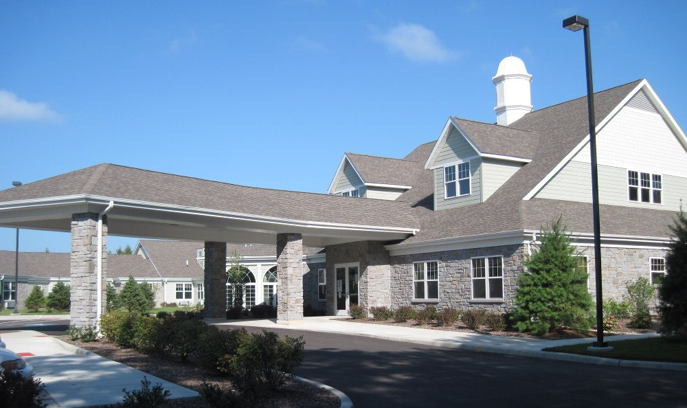 Community area at Addison Pointe Health & Rehabilitation Center
