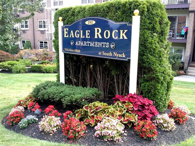 Eagle rock sign at Eagle Rock Apartments at South Nyack in South Nyack, NY