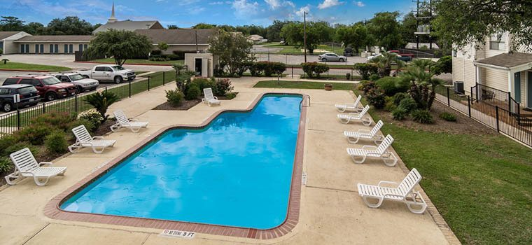 Residents love the swimming pool and other fantastic amenities at Fox Run Apartments