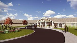 An exterior view of the new Artis community at Branford