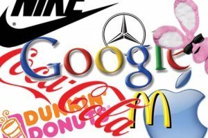 Popular brand logos, including Google, Coca-Cola, McDonald's, etc.