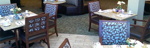 Dining offerings available at Westmont Town Court.