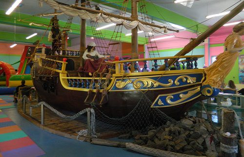 Visit the bounce house at Aquarium Village where we have a replica pirate ship