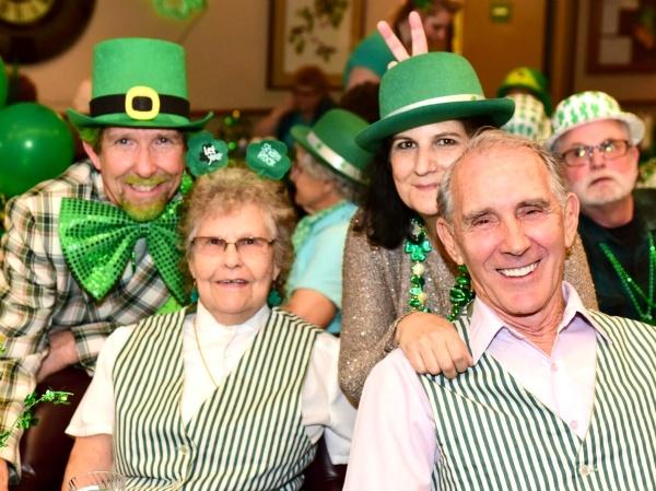 St. Patrick's Day at River Commons Senior Living.