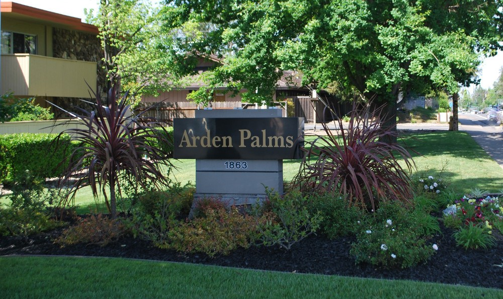 Arden Palms Apartments sign in  Sacramento, CA