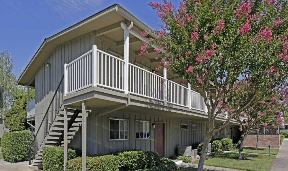 Porch at apartments in Sacramento