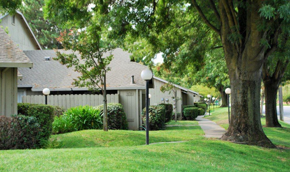Path at apartments in Lodi, CA