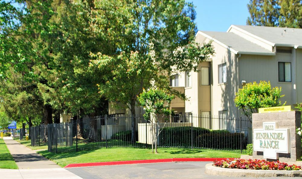 Sign at Zinfandel Ranch Apartments in Rancho Cordova, CA