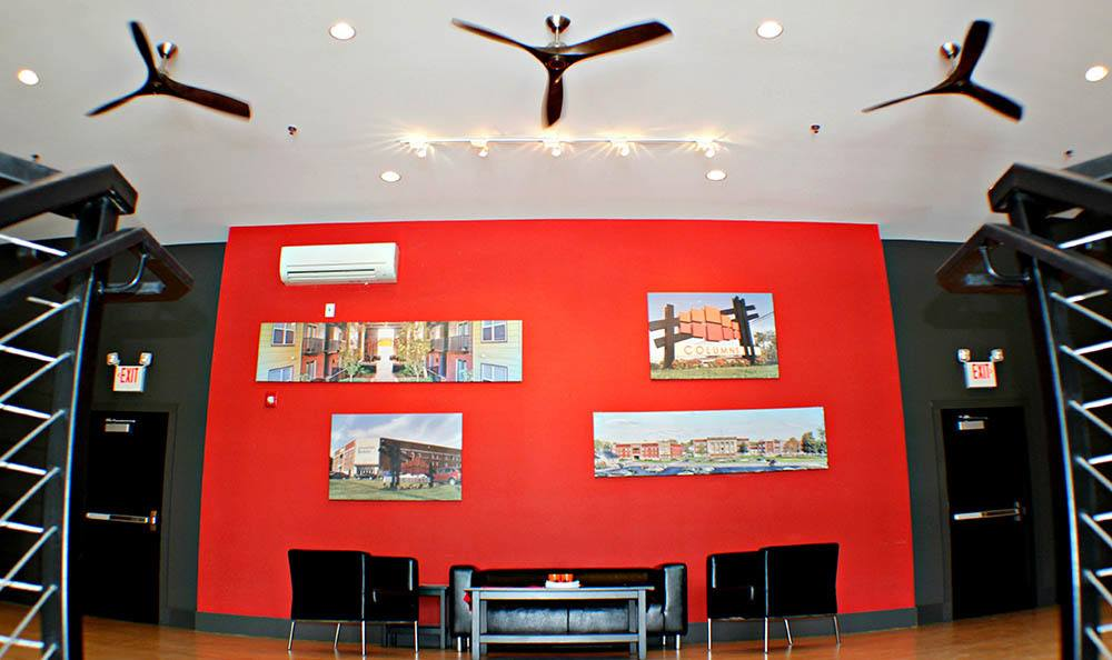 Lobby at apartments in Bowling Green