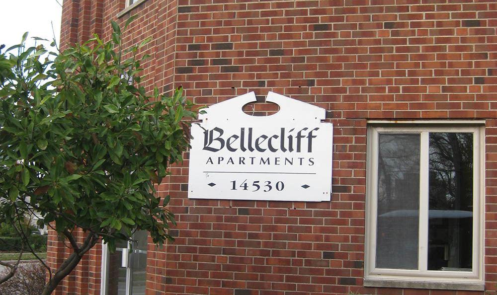 Signage at apartments in Lakewood