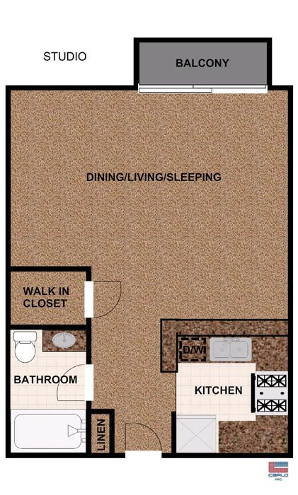 furnished studios, 2 bedroom townhomes, and 1 & 2 bedroom