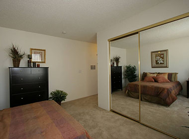 Mirrors that make the rooms appear larger at The Terrace in Tarzana, CA
