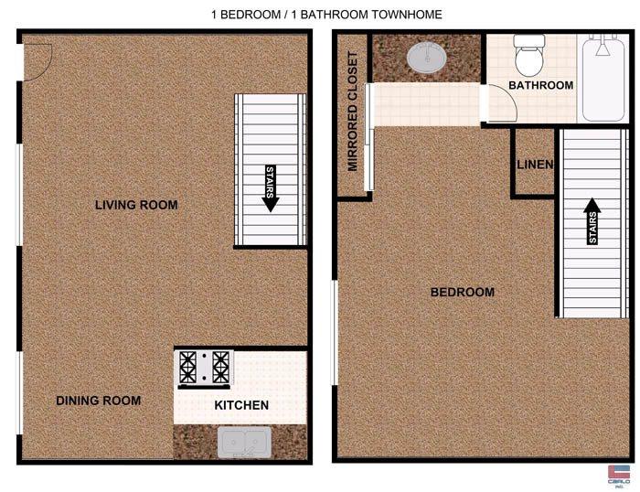 1 Bedroom townhome