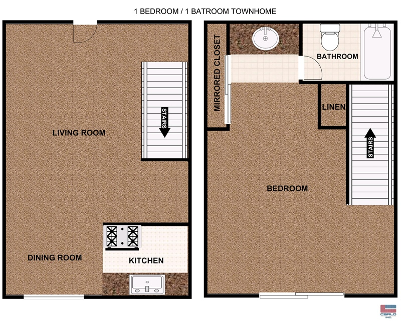 1 Bedroom Townhome