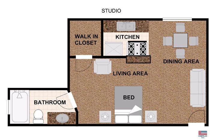 1 Bedroom Apartment Floor Plans With Walk In Closet modren 1 bedroom apartment floor plans with walk in closet square