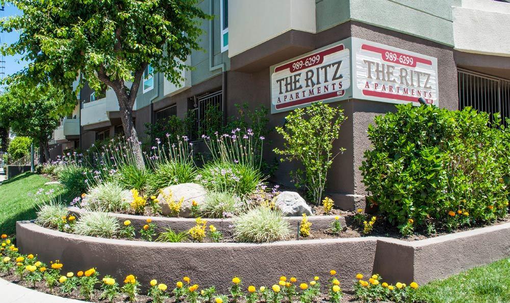 Apartment exterior at The Ritz in Studio City, CA