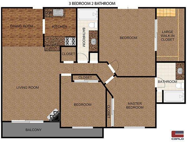 2 Bedroom apartment with balcony