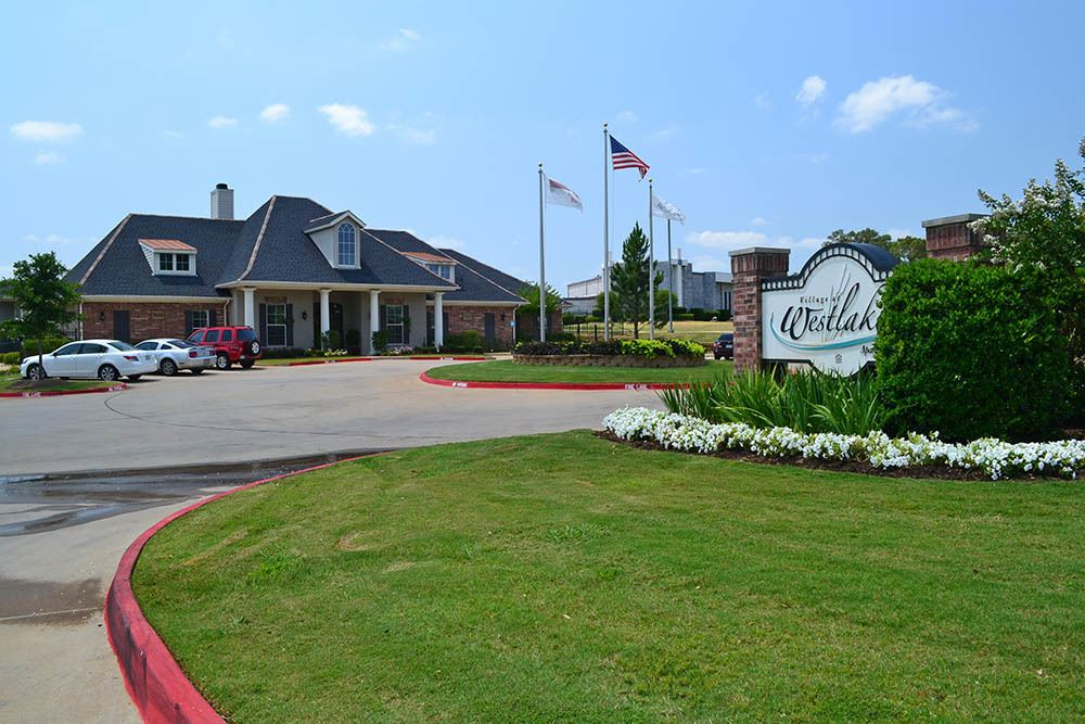 Entrance to The Village at Westlake Apartment Homes