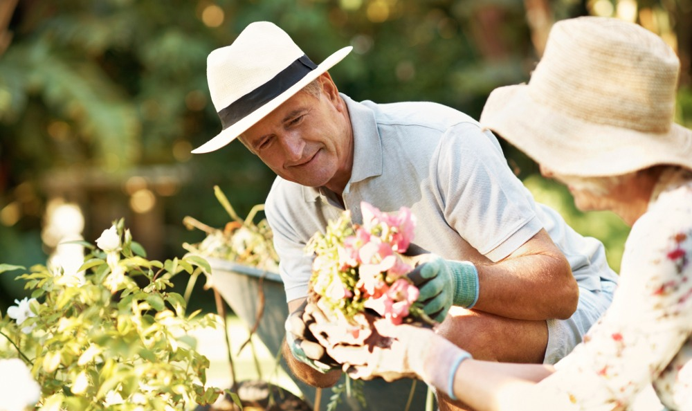 Gardening at our senior living facility in Tinley Park