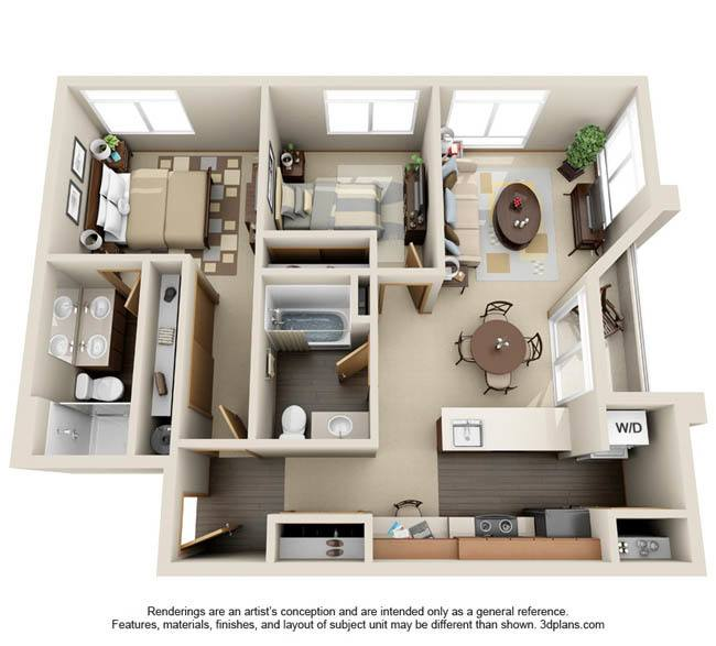 Luxury Studio, 1 & 2 Bedroom Apartments in University Place, WA