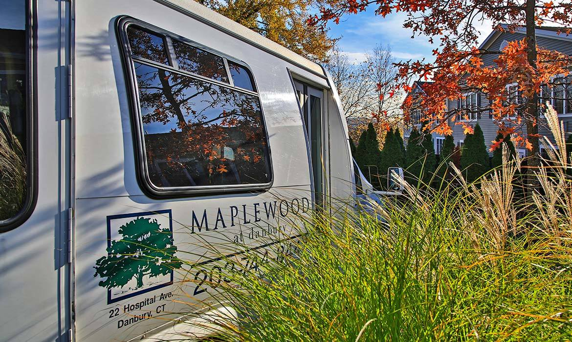 We provide transportation to and from events here at Maplewood at Danbury.