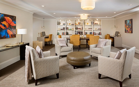 The living areas at Maplewood at Weston are warm and inviting.