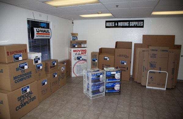 Moving supplies at our Las Vegas self storage facility