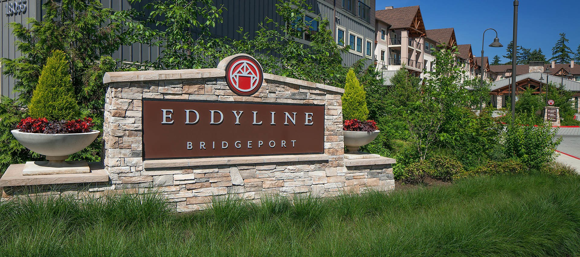 Signage at Eddyline at Bridgeport in Portland, OR