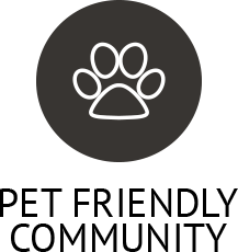 Learn about our pet policy on our website at Hidden Hills Condominium Rentals
