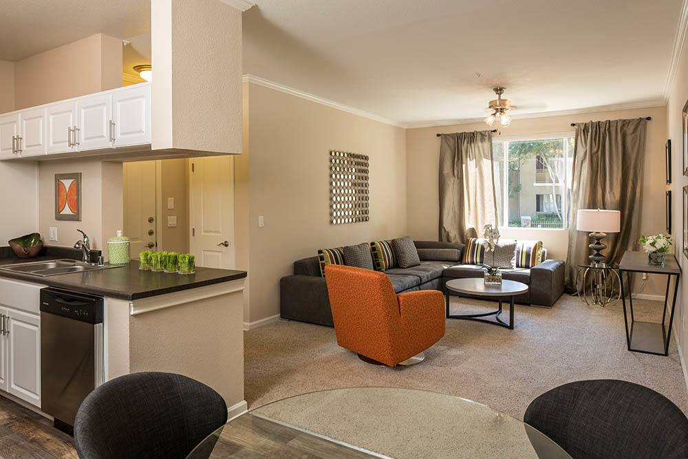 Your new luxury living room at Alicante Apartment Homes