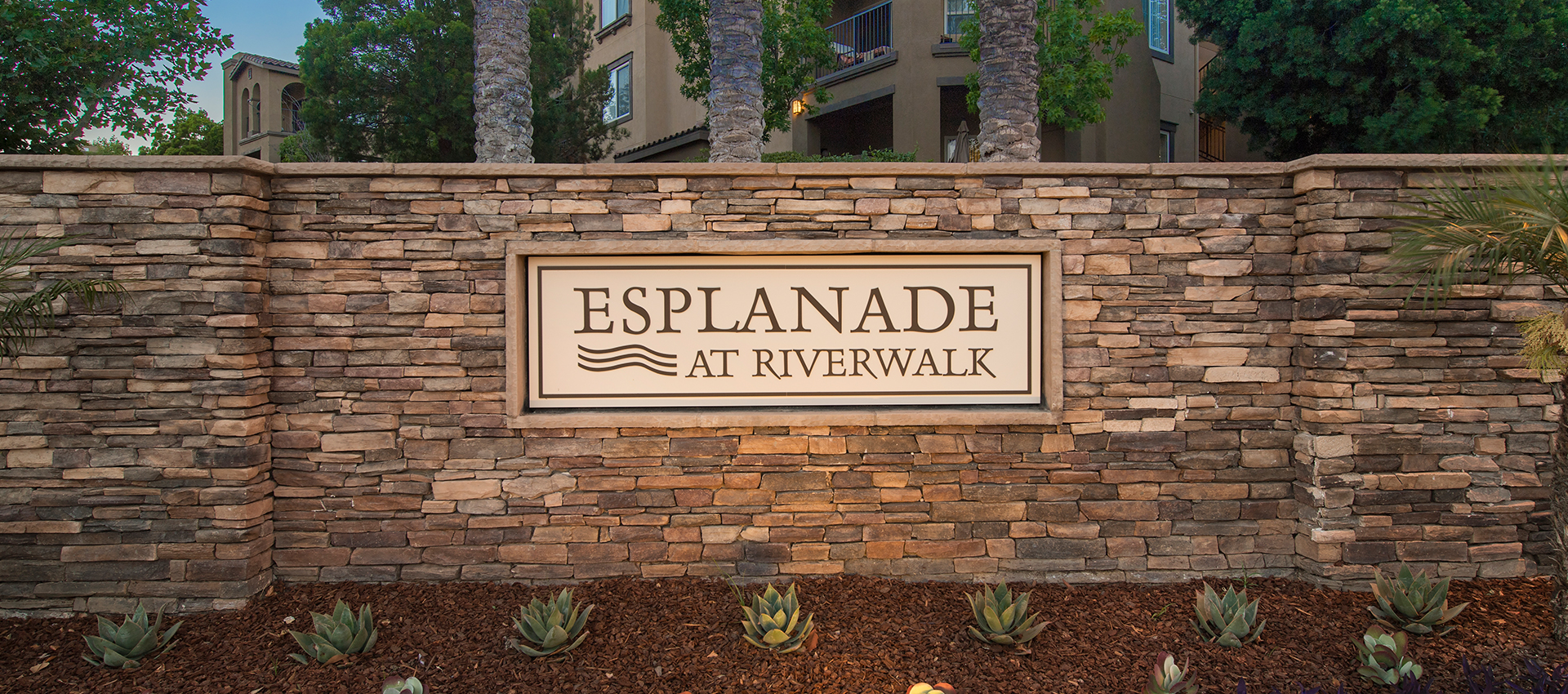 Signage at Esplanade Apartment Homes in Riverside, CA