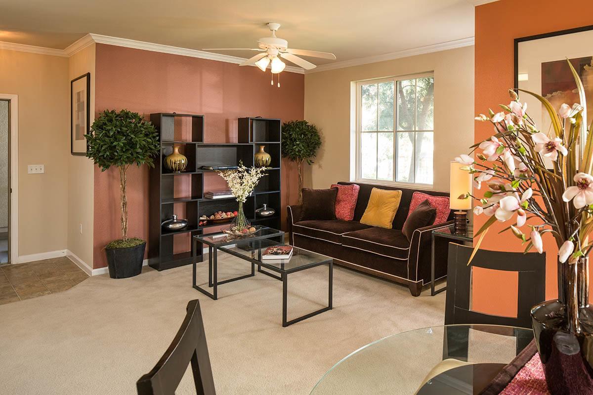Spacious Living Room at Esplanade Apartment Homes
