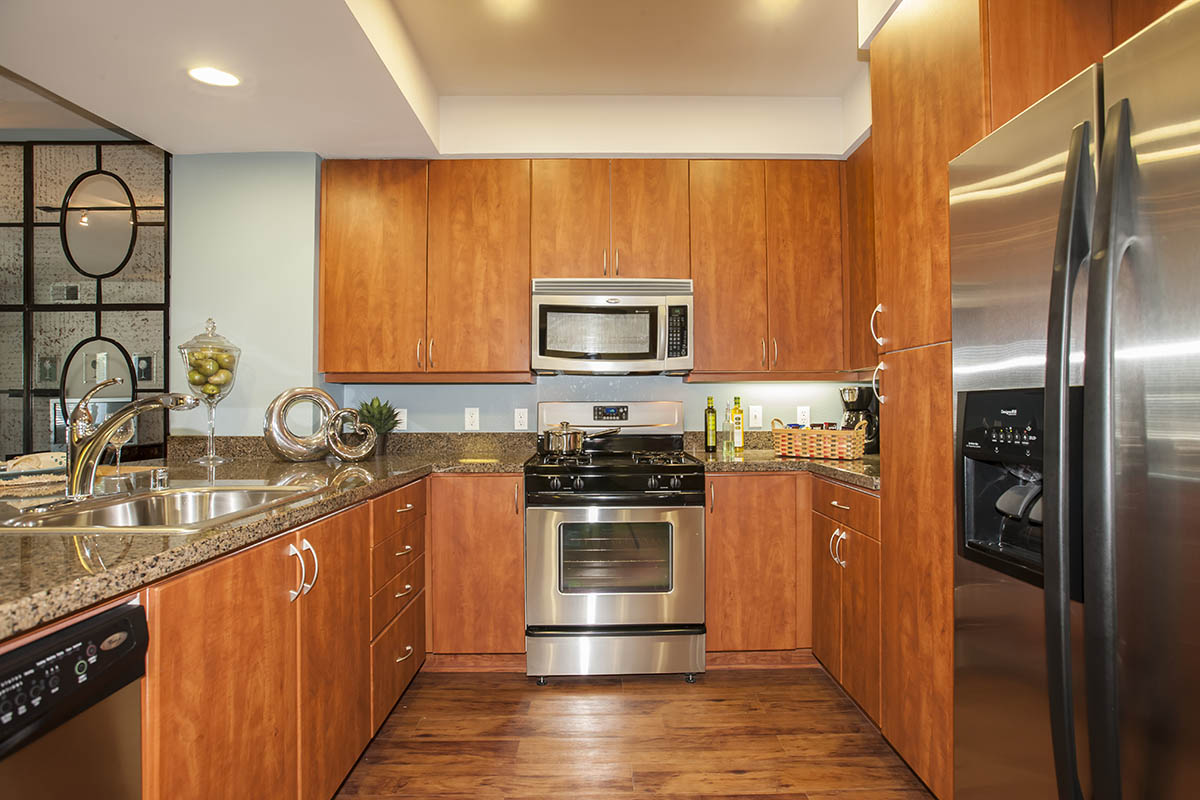 Luxury Kitchen with custom cabinets at {[location_name}} in Petaluma