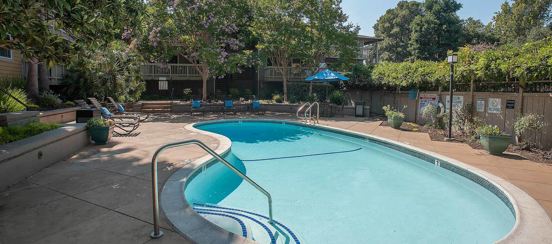 Expansive pool deck at Regency Plaza Apartment Homes