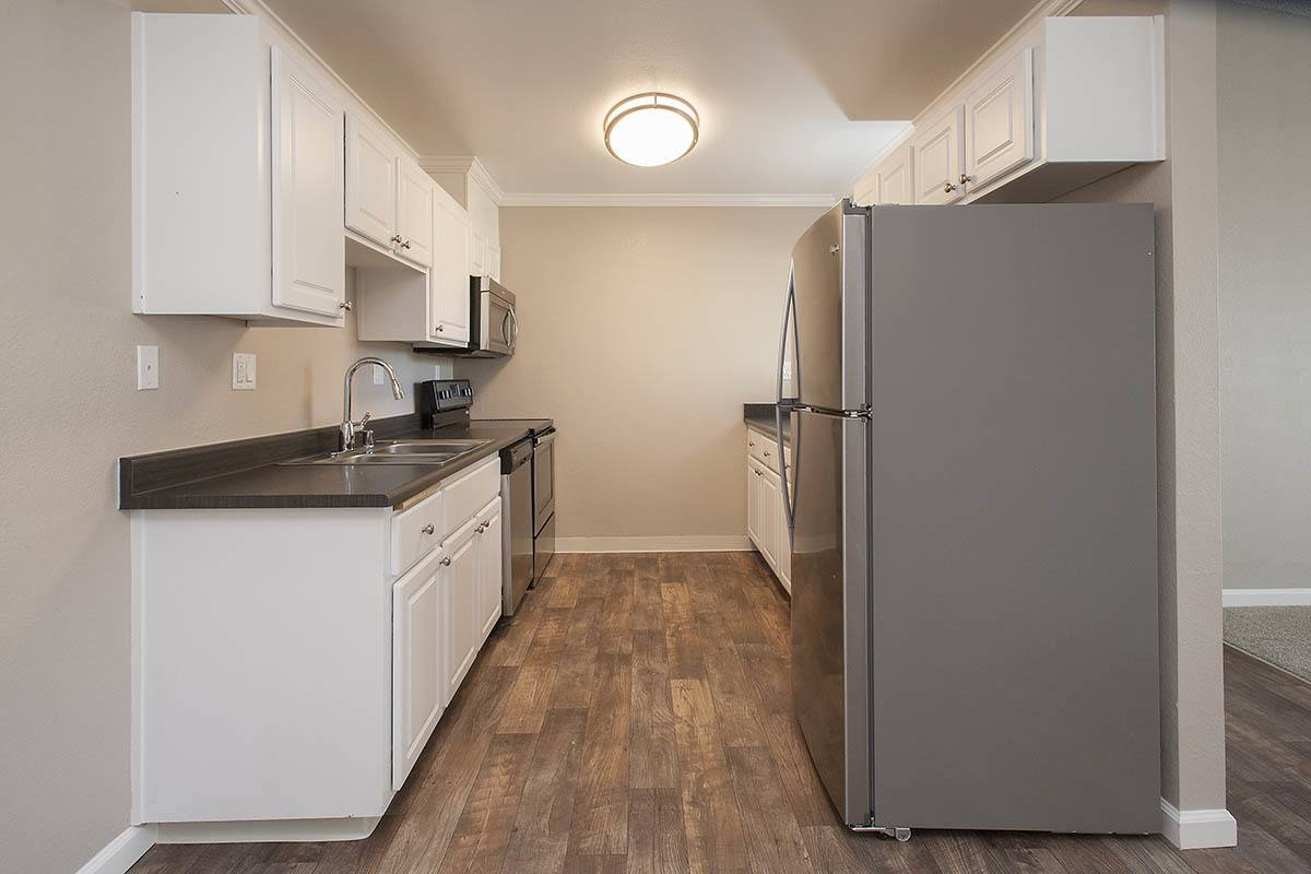Kitchen With Wood Floors at Ridgecrest Apartment Homes