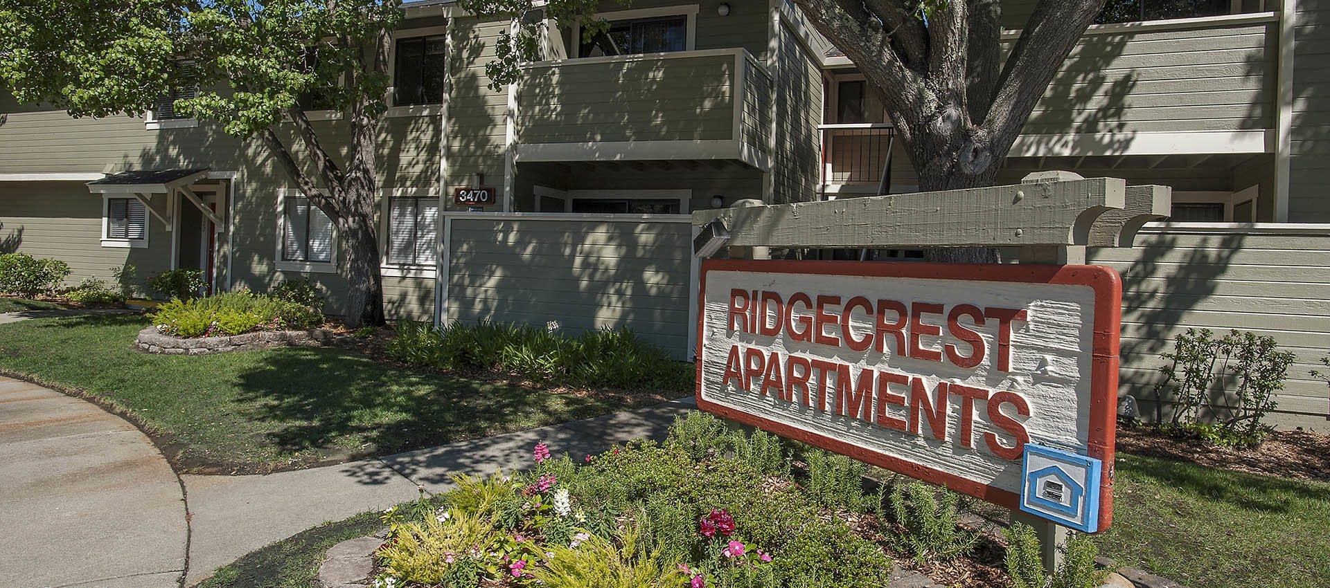 Signage at Ridgecrest Apartment Homes in Martinez, CA