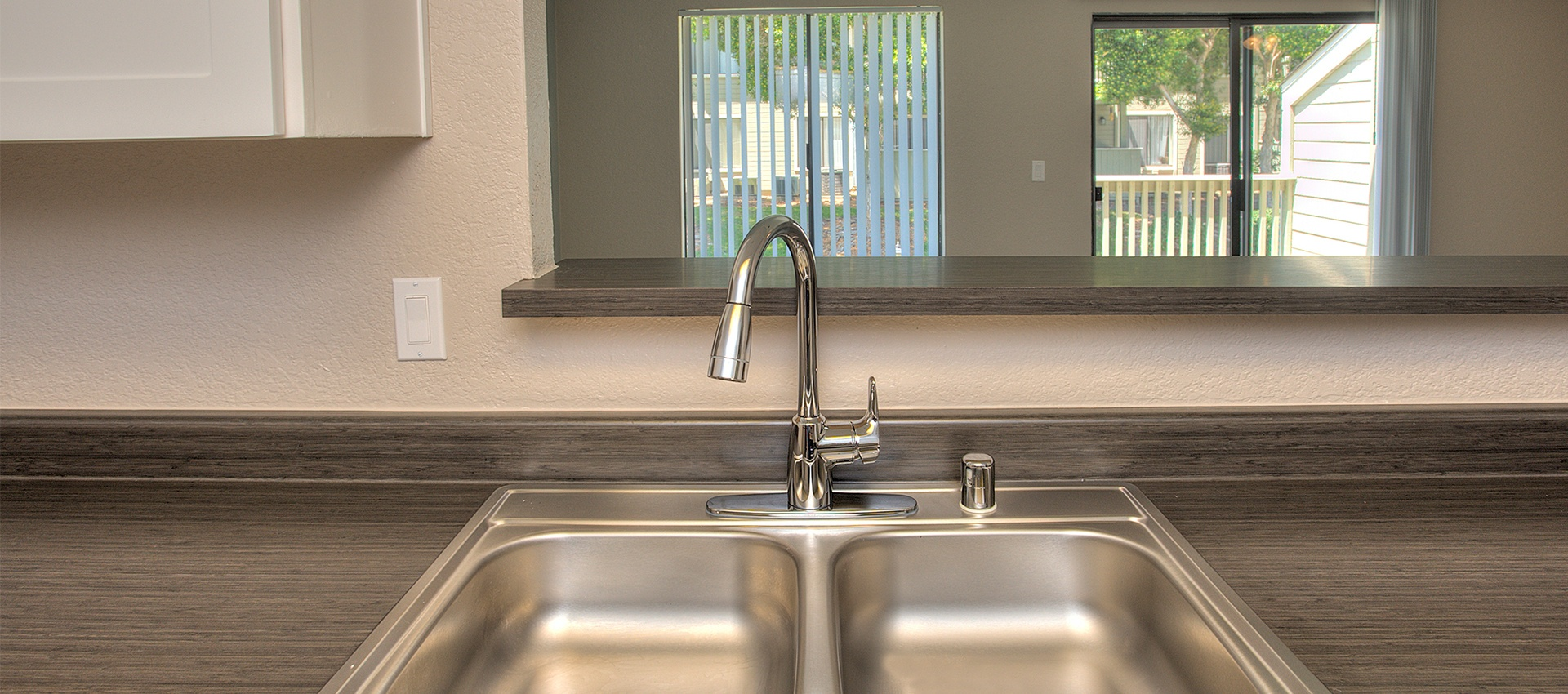 Stainless Steel Sink Fixture in Sandpiper Village Apartment Homes in Vacaville, CA