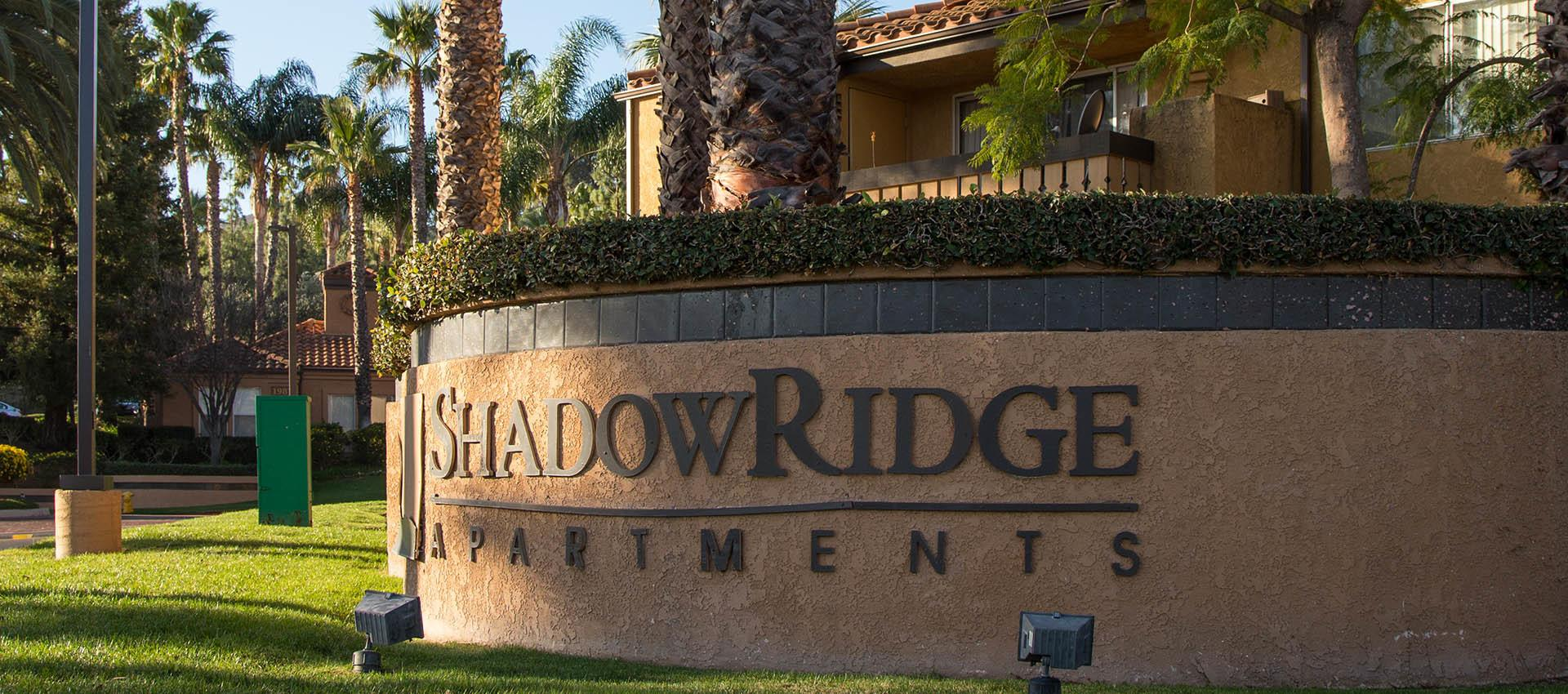 Signage at Shadow Ridge Apartment Homes in Simi Valley, CA