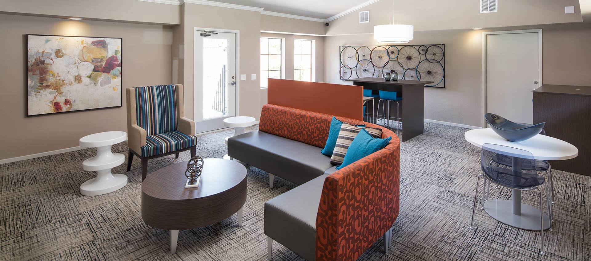 Resident's Lounge at The Highlands Apartment Homes in Grand Terrace