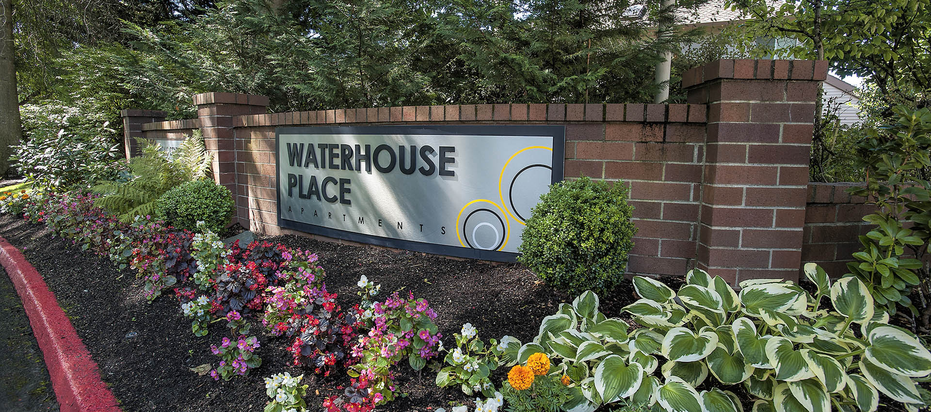 Signage at Waterhouse Place in Beaverton, OR