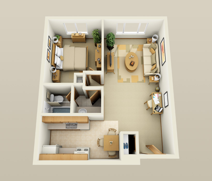 The Essex floor plan at Lincoln Crest Apartments