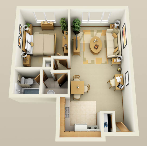 Windsor floor plan at Lincoln Crest Apartments