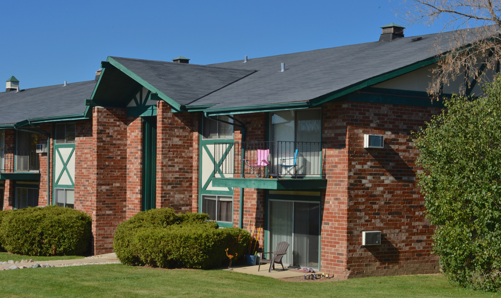 Some apartments at Piccadilly Apartments in Greenfield, WI feature private patios